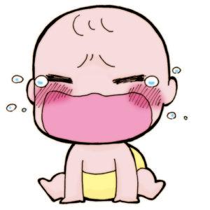 赤ちゃんギャン泣き イラスト
