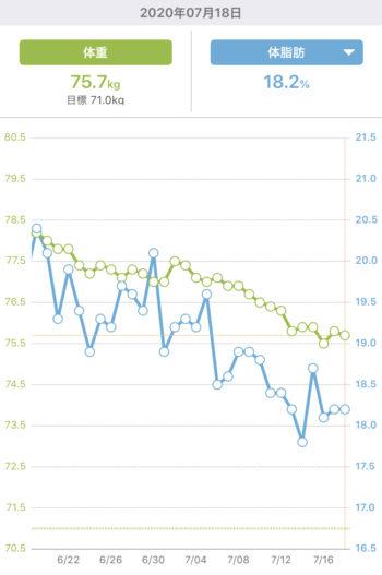 体重グラフ ダイエット